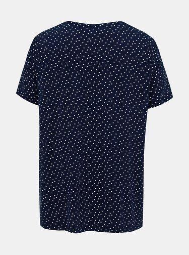 Tmavě modré puntíkované tričko Ulla Popken