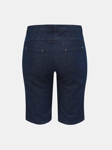 Tmavě modré džínové kraťasy Ulla Popken