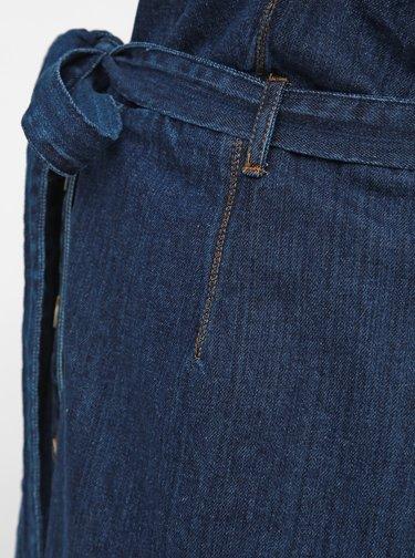 Tmavě modré džínové těhotenské šaty na ramínka Dorothy Perkins Maternity