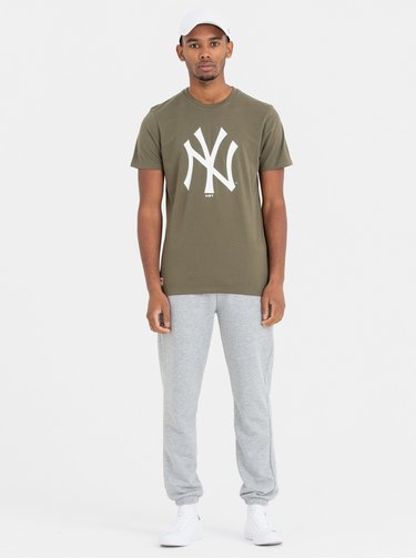 Khaki pánské tričko s potiskem New Era Neyyan