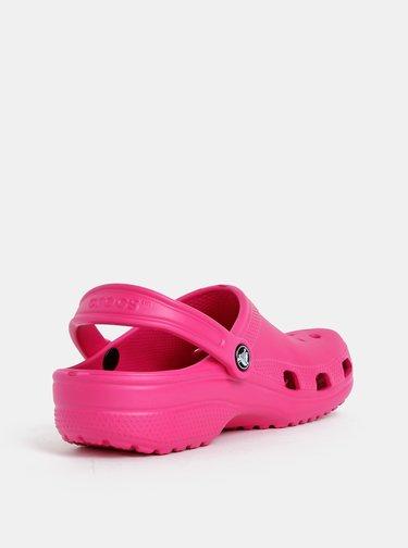 Tmavě růžové dámské pantofle Crocs Classic Clog