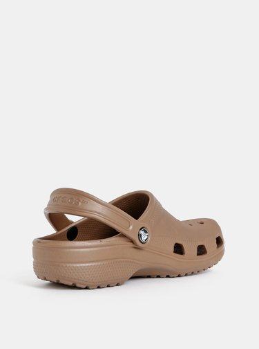 Hnědé pantofle Crocs Classic