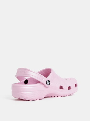 Růžové dámské pantofle Crocs Classic Clog