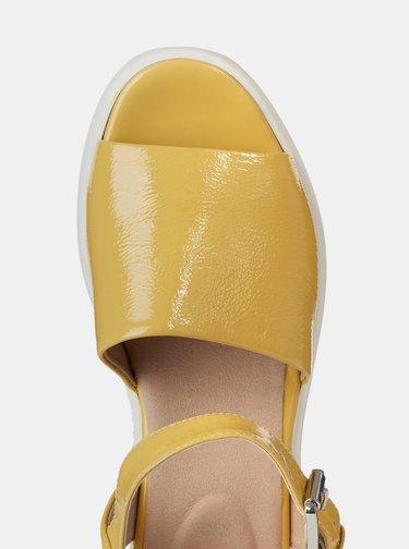 Sandale galbene de dama cu platforma Geox Wimbley