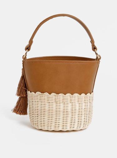 Hnedá crossbody kabelka so strapcami ALDO