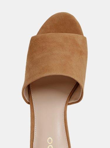 Hnědé dámské semišové pantofle ALDO Dengwen