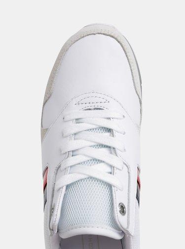 Bílé dámské tenisky se semišovými detaily Tommy Hilfiger