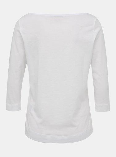 Bílé dámské basic tričko s 3/4 rukávem Tommy Hilfiger