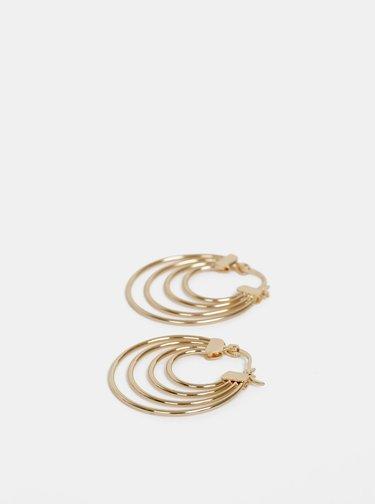 Kruhové náušnice v zlatej farbe Pieces Cecilia