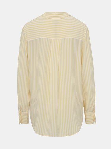 Žlutá dámska pruhovaná košeľa Tommy Hilfiger Fleur