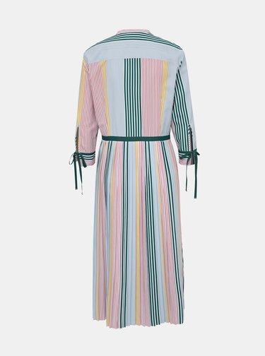 Růžovo-modré zavinovací pruhované šaty Tommy Hilfiger Icon