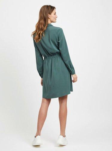 Zelené košeľové šaty VILA Laia