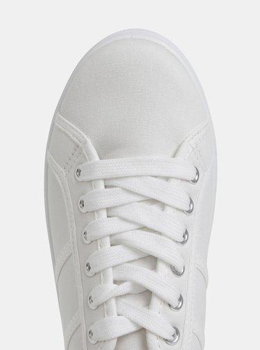 Biele dámske tenisky na platforme Haily´s Pina