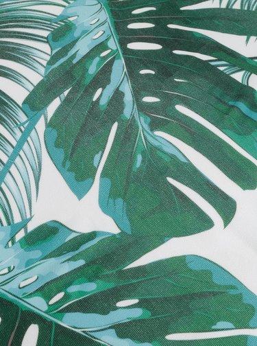 Zelená kruhová vzorovaná plážová deka Haily´s Palmleaf