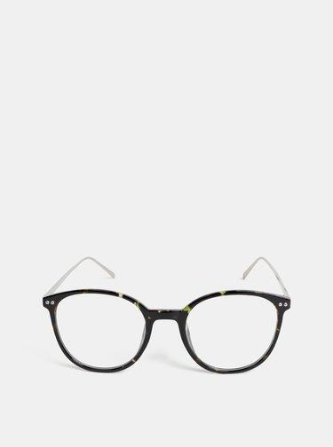 Čierne dámske vzorované okuliare Haily´s Nerd