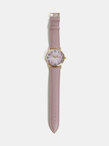 Dámské hodinky se starorůžovým páskem Haily´s Lilly