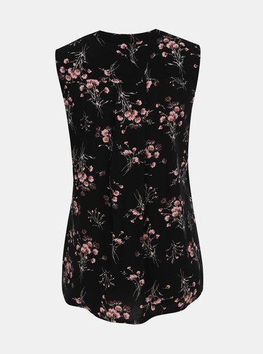 Čierna dámska kvetovaná blúzka Haily´s Marlena