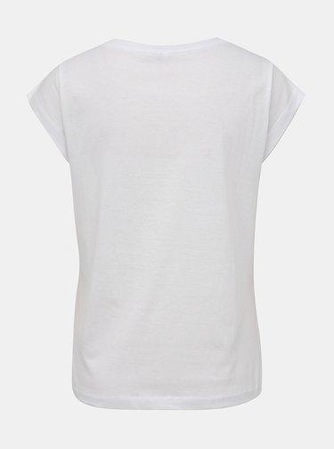 Biele dámske tričko s nášivkou Haily´s Kina