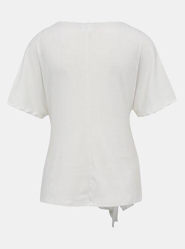 Krémové tričko s mašľou VILA Namina
