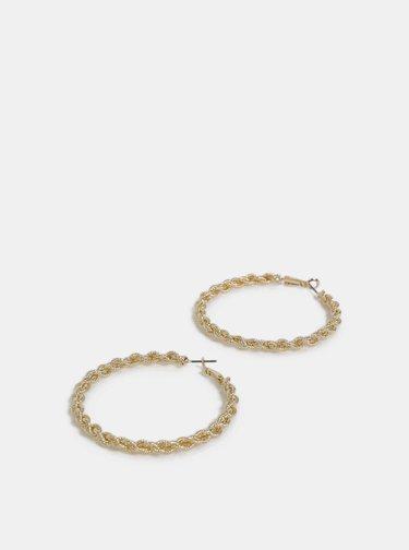 Kruhové náušnice v zlatej farbe Pieces Carina