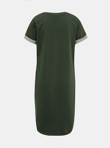 Khaki mikinové basic šaty Jacqueline de Yong Ivy