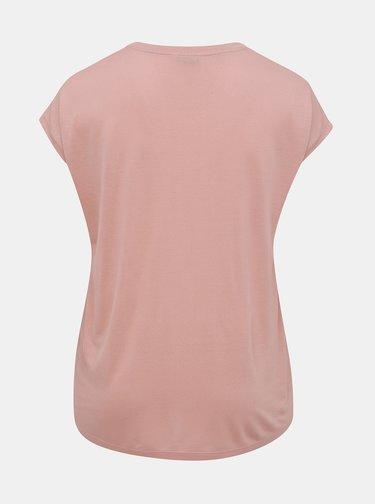 Rúžová blúzka ONLY CARMAKOMA Flake