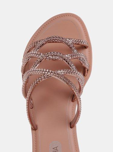 Pantofle v růžovozlaté barvě Grendha Preciosiade