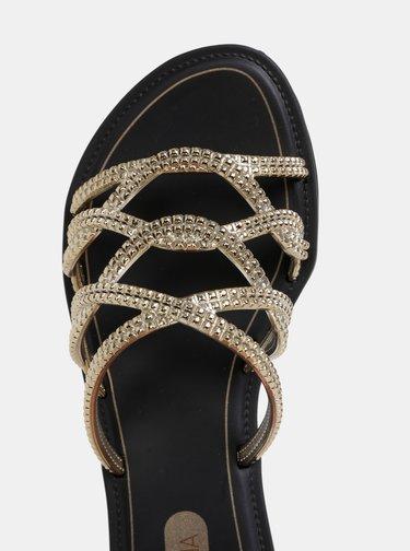 Pantofle v černo-zlaté barvě Grendha Preciosiade