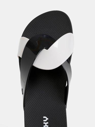 Bielo-čierne šľapky  Zaxy Check