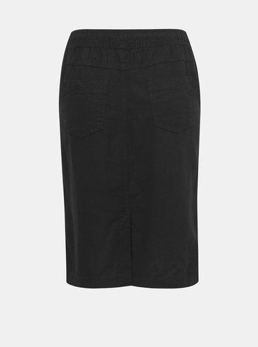 Čierna ľanová sukňa M&Co