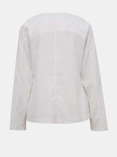 Biele dámske ľanové sako M&Co