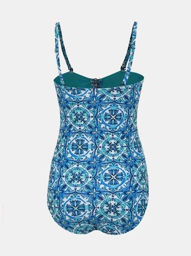 Modré dámské vzorované jednodílné plavky M&Co