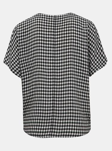 Bílo-černá dámská kostkovaná košile s uzlem M&Co