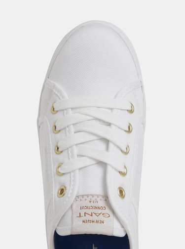 Bílé dámské tenisky na platformě GANT Aurora