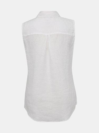 Bílá dámská lněná košile bez rukávů M&Co