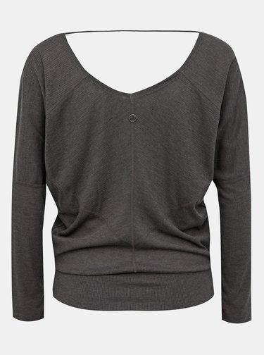 Tmavě šedé žebrované tričko prAna Orona