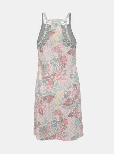 Biele kvetované šaty s priestrihmi prAna Ardor