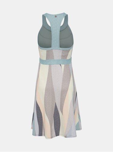 Modro-krémové vzorované šaty prAna Calexico