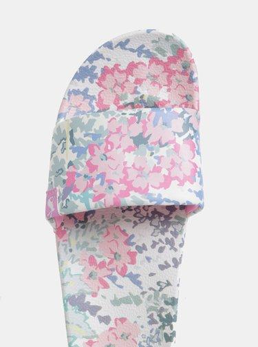 Biele dámske kvetované šľapky Tom Joule Poolside