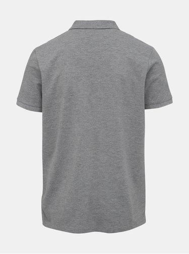 Šedé basic polo tričko Lindbergh