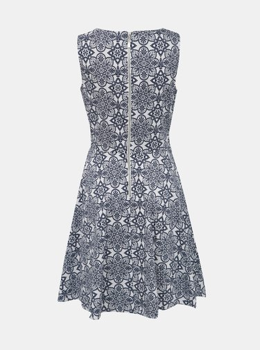 Modro-biele vzorované šaty Apricot