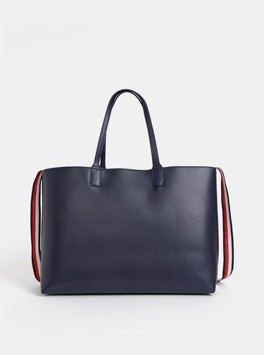 Tmavě modrý shopper s odnímatelným pouzdrem 2v1 Tommy Hilfiger Iconic