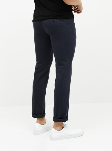 Modré chino kalhoty SEMPRE Giovanni