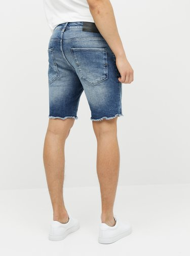Pantaloni scurti albastri din denim Selected Homme Leonel