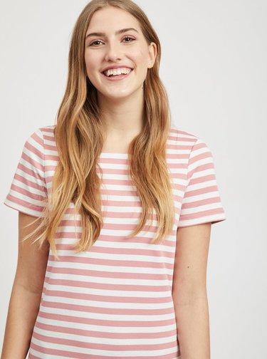 Ružové pruhované šaty VILA Tinny