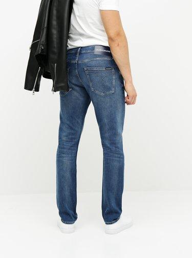 Modré pánské tapered fit džíny Calvin Klein Jeans