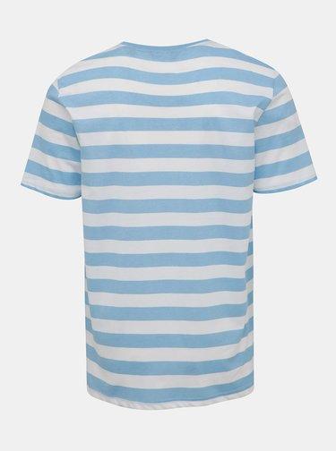 Bielo-modré pruhované tričko ONLY & SONS Cole
