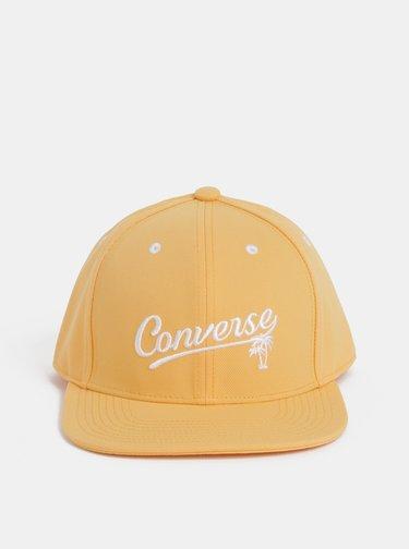 Oranžová dámská kšiltovka s výšivkou Converse
