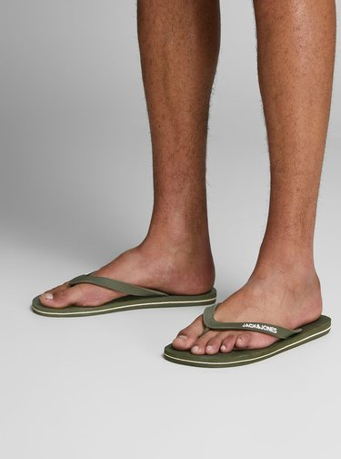 Papuci flip-flop kaki Jack & Jones Basic