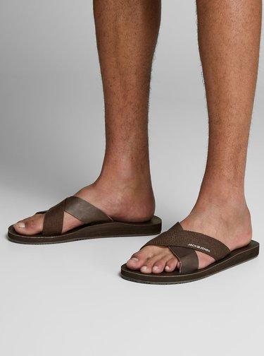 Papuci barbatesti maro inchis Jack & Jones Nova